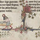 Comparing Medieval images of European and Japanese sword polishers