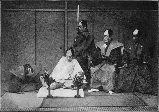 Historic seppuku recreation