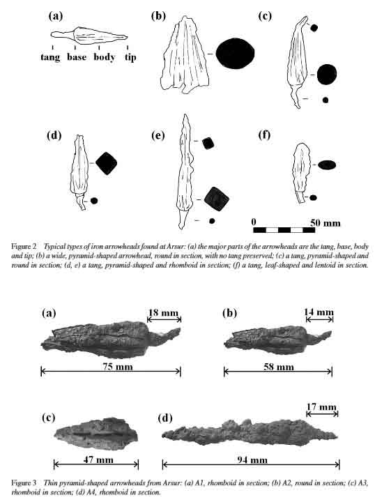 Drawings and photographs of arrowheads