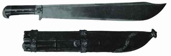 Knife-pommeled falchion