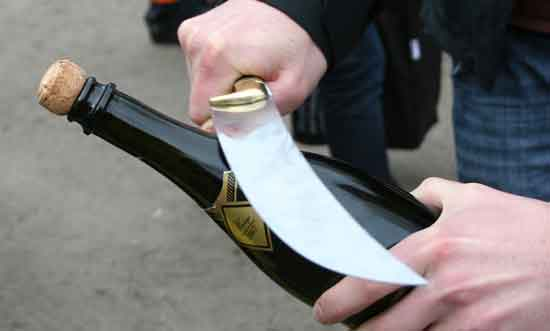 Champagne knife