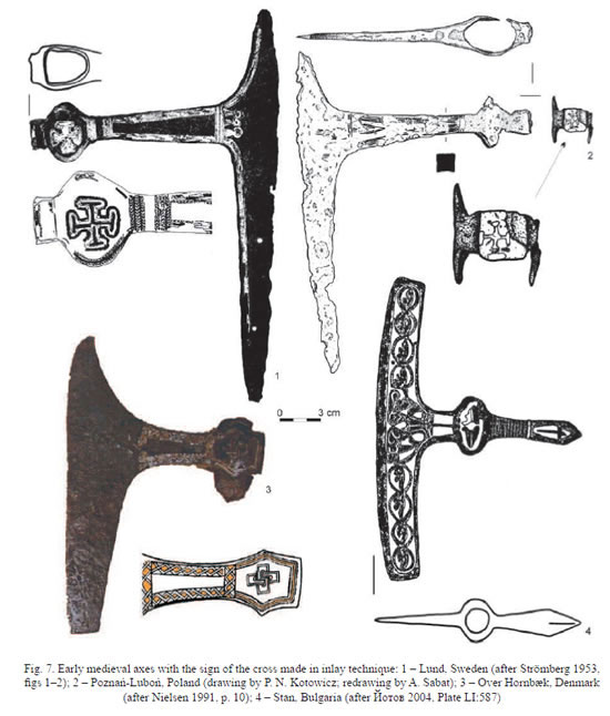 Inlaid axes and location