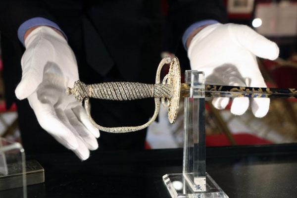 Diamond encrusted gold sword of the Tsar